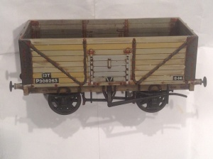 Dapol 7mm wagon weathered by black and decker boy 2