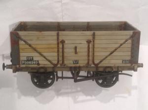 Dapol 7mm wagon weathered by black and decker boy 1