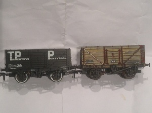 Bachmann wagon with Lifecolor weathered wood