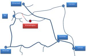 Schematic of Kirkmellington and surrounding railway lines
