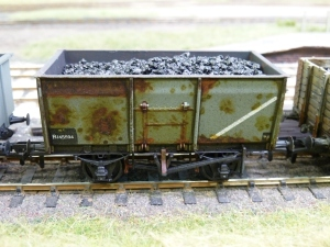 Weathered 16T mineral wagon (ex MOT type)